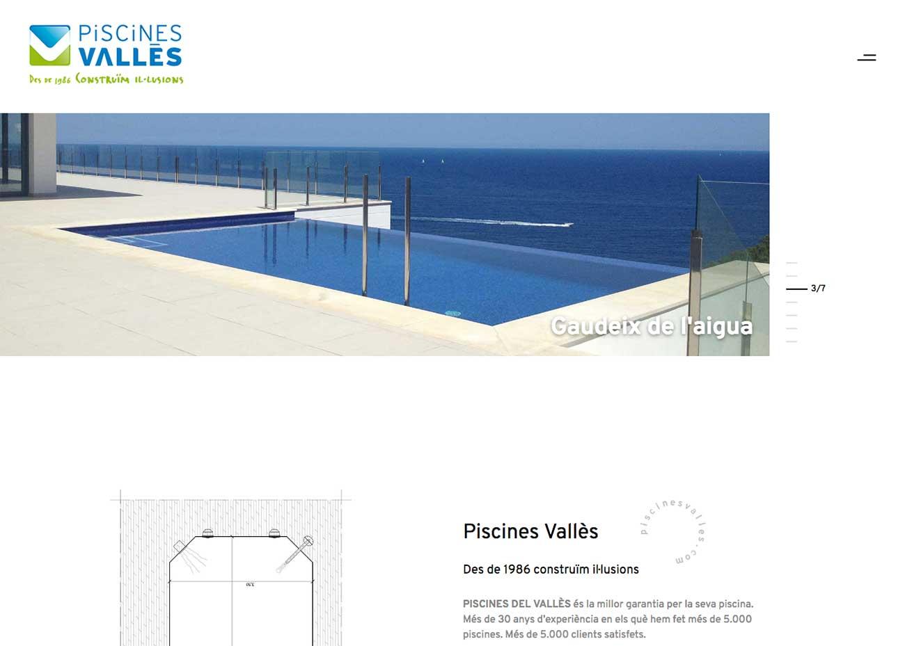 Nueva web Piscinas del Vallés